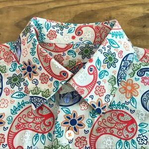 Alan Flusser paisley button down shirt